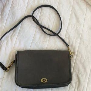 Vintage Coach City Bag - black leather